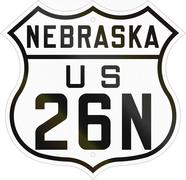 Historic Nebraska Highway Route shield from 1926 used in the US - stock illustration