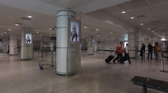 Smooth Steadicam Shot At Montreal's Airport Stock Footage