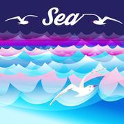 Bright sea background Stock Illustration