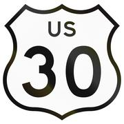 Historic Highway Route shield from 1961 used in the US Stock Illustration