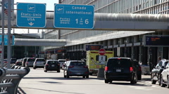 Cars Arriving At The Airport To Travel Stock Footage