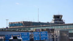 Montreal's Pierre Elliott Trudeau International Airport Stock Footage