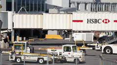Airport Workers Stock Footage