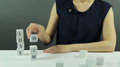 Lose or Win - stock footage