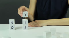 Yes or NO Stock Footage