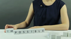 Impossible or Possible Stock Footage