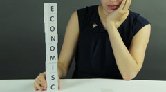 A Ruined Economics Stock Footage