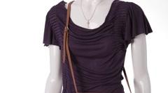 Dark purple dress on mannequin. Stock Footage