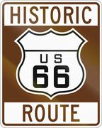 United states Route shield of the historic Route 66 Piirros