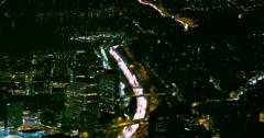 Seattle, Washington Night Traffic Lights Time Lapse Overhead View Stock Footage