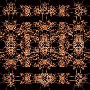 Dark Ornate Abstract Seamless Pattern Stock Illustration
