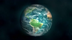Planet Earth Space Exploration (3D Animation)  Stock Footage