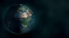 Planet Earth Space Exploration (3D Animated Background)  Stock Footage
