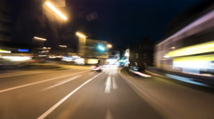 German country road at night - time lapse Stock Footage
