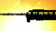Women Waiting for Train in City at Sunset Silhouette Zoom In, 4K Stock Footage