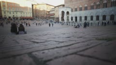 Italy Siena Piazza - stock footage