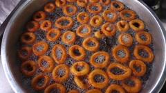 Turkish Traditional Dessert Donut Lokma Stock Footage