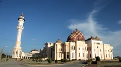 Mosque Baitul Izzah Tarakan, Indonesia - stock footage
