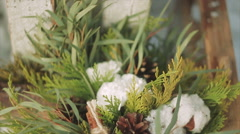 Wedding Bouquet Beside a Candle Stock Footage