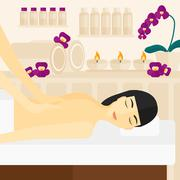 Stock Illustration of Woman recieving massage