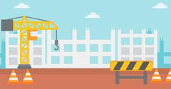 Background of construction site Stock Illustration