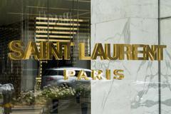 Saint Laurent Paris Retail Store Exterior - stock photo
