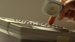 Push button telephone call - stock footage