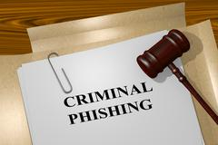 Criminal Phishing legal concept - stock illustration