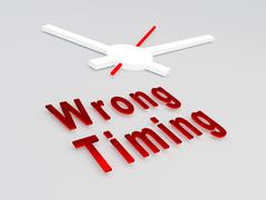 Wrong Timing concept Stock Illustration