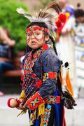 Young Blackfoot Indian Dancer Stock Photos
