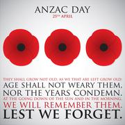 ANZAC (Australia New Zealand Army Corps) Day card in vector format. - stock illustration