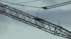 Silhouette of a big tower crane Stock Footage
