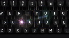 Typewriter with Blog buttons - stock footage