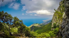 Timelapse footage of the northern part of Mallorca island, Spain Stock Footage