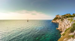 Timelapse of beautiful landscape of Mallorca island, Spain Stock Footage