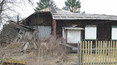 Old Dilapidated House in the Village. Stock Footage