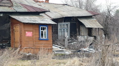 Old Dilapidated House in the Village. - stock footage