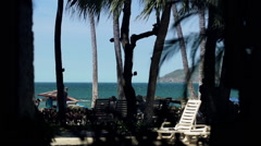 Costa Rica relaxing in the breeze at beach- Stock Footage