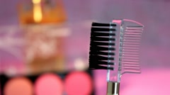 Stock Video Footage of 06  - comb - makeup collection - 01