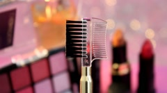 Stock Video Footage of 06  - comb - makeup collection - 04