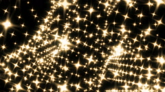 Beautiful Particles Stars Background. Seamless loop Stock Footage