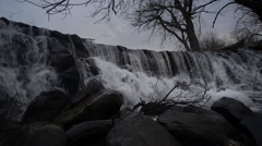 Stock Video Footage of Waterfall Whitnall Park Franklin Wisconsin