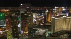 Las Vegas Strip Aerial Timelapse Stock Footage