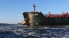Tanker Baltic Force  Stock Footage