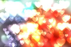 Abstract heart bokeh bright background Stock Illustration