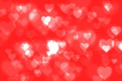 Abstract heart bokeh bright background - stock illustration