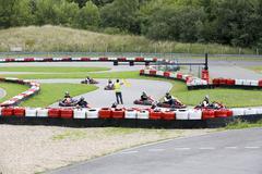 Outside go cart race - stock photo