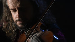 Violin Violinist music musician classical entertainment fiddler instrument Stock Footage