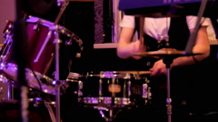 Drummer at a concert flare move Stock Footage