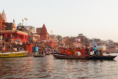 Hinduism and Buddhism have similarities Stock Photos